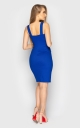 Stylish dress with zipper (blue)