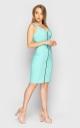 Стильное платье с молнией (мята)