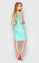 Стильное платье с молнией (м'ята)
