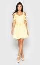 Расклешенное мини платье