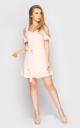 Расклешенное мини платье (розовое)
