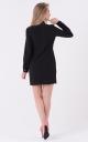 Легкое платье-рубашка (черная)