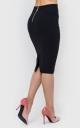 Стильная юбка-карандаш (черная)