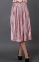 Бархатная юбка-плиссе (розовая)