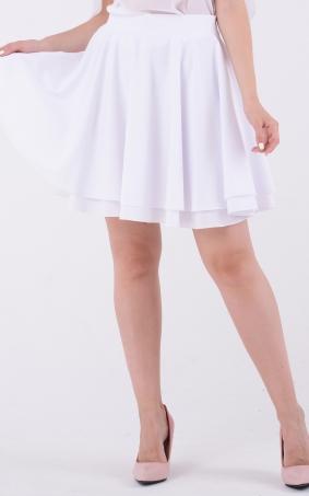 Воздушная белая юбка