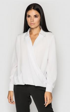 Блуза на запах (белая)