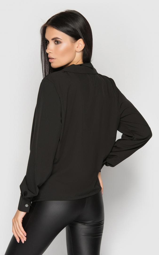 Блуза на запах (черная)