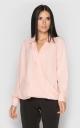 Блуза на запах (персиковая)