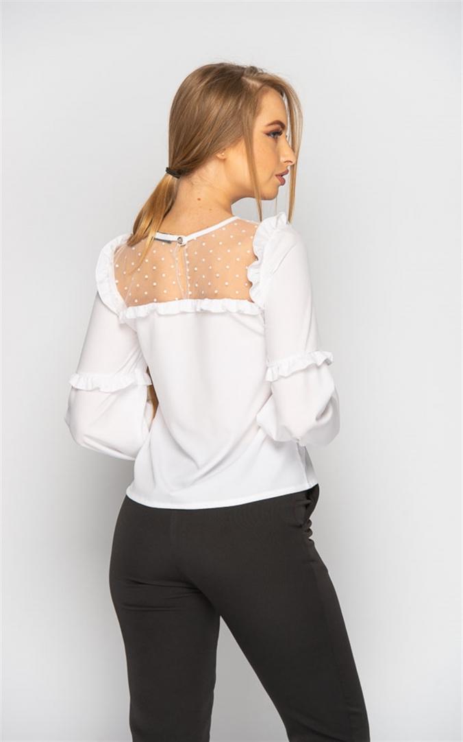 Блуза с прозрачными вставками (белая)