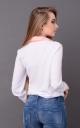 Модная короткая блузка (белая-мята)