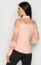 Однотонная офисная блуза (персиковая)