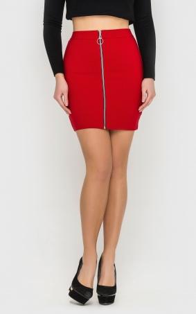 Облегающая мини-юбка (красная)