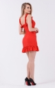 Bright ruffle sundress (red)