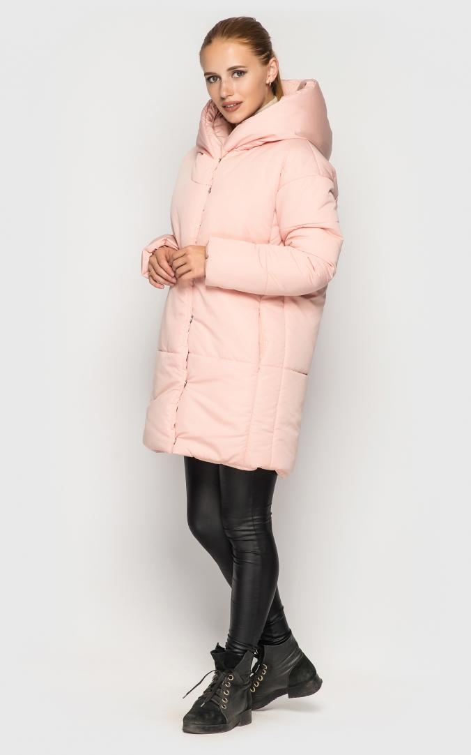 Подовжена куртка (рожева)