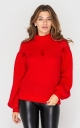 Sweatshirt with decor (red)