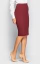Стильная юбка-карандаш (марсала)