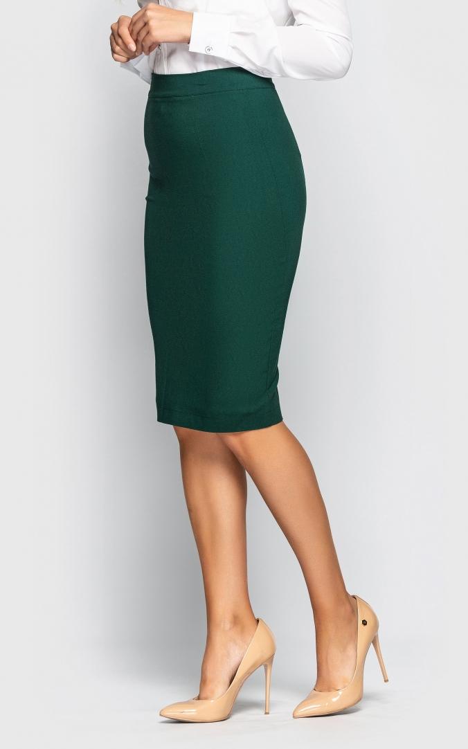 Стильная юбка-карандаш (зеленая)