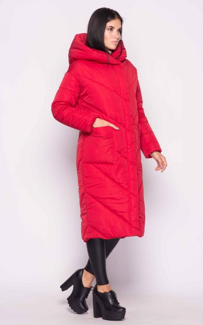 Подовжена куртка (червона)