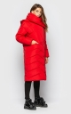Extra long jacket with collar (red)