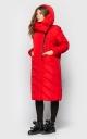 Удлиненная куртка с воротом (красная)