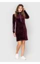 Velor dress (burgundy)