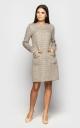 Tweed dress (beige)