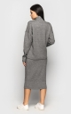 Warm suit with skirt (gray)