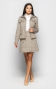 Tweed suit with skirt (beige)
