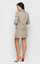 Твідовий костюм з юбкою (бежевий)