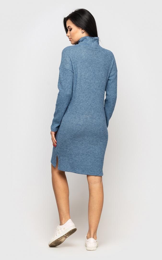 Warm Knit Dress (blue)