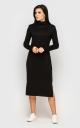 Warm long dress (black)