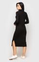 Теплое длинное платье (черное)