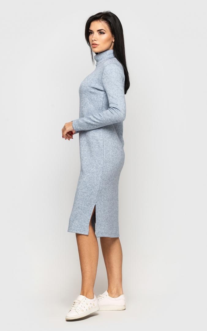 Тепле довге плаття (блакитне)