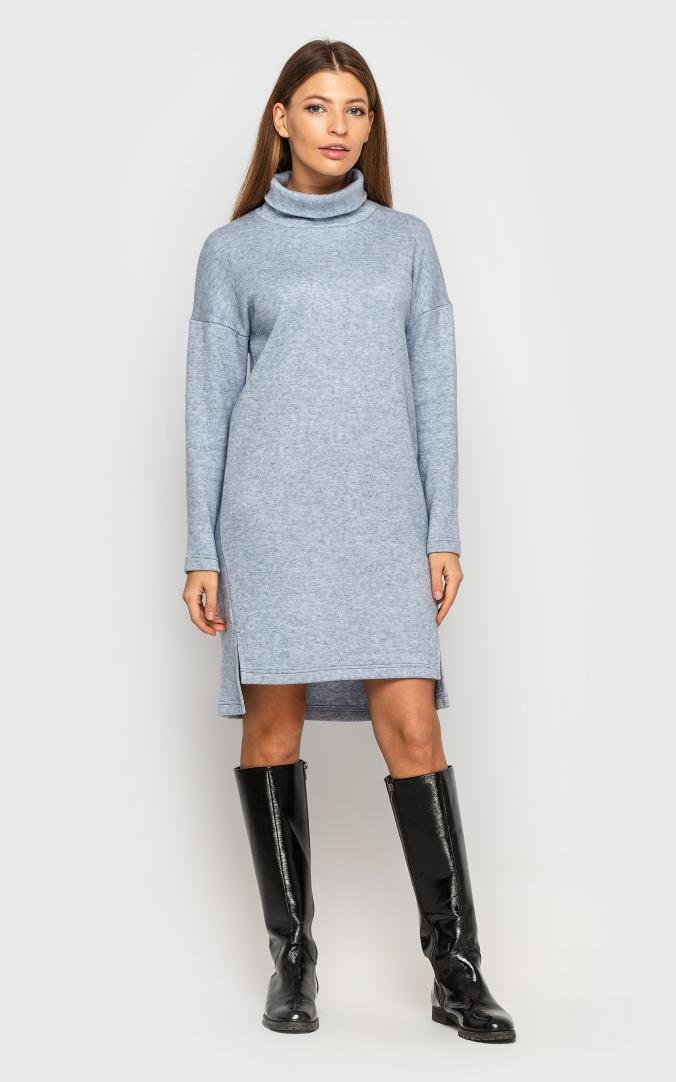 Тепле плаття ангора (блакитне)