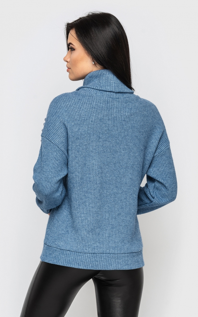 Knitted sweater (blue)