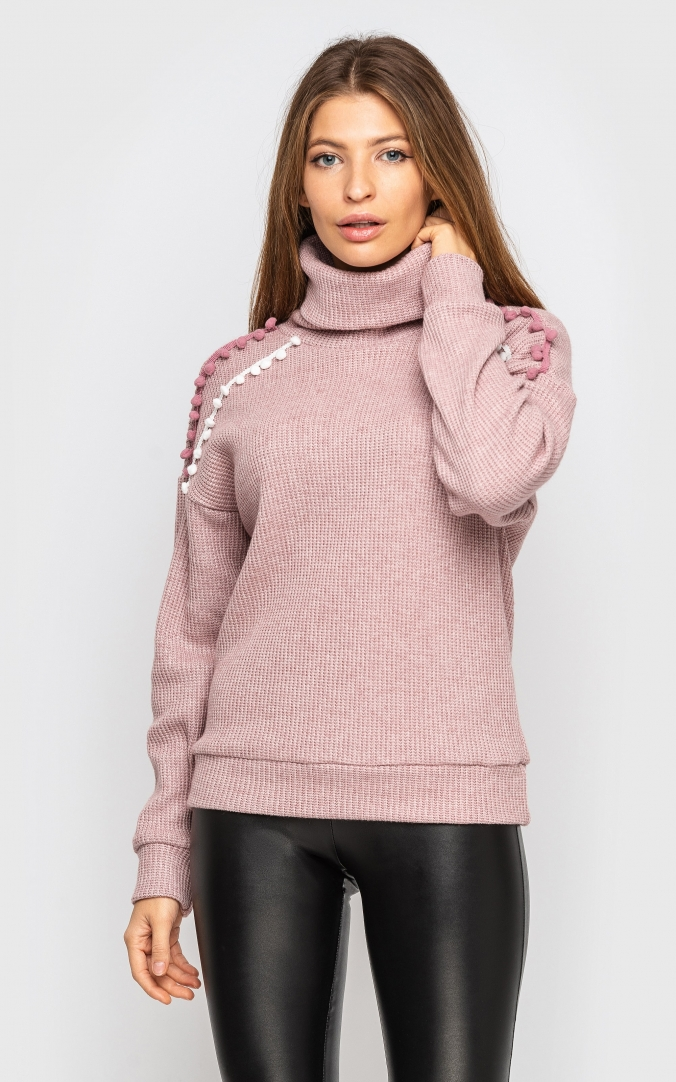 Knitted sweater (pink)