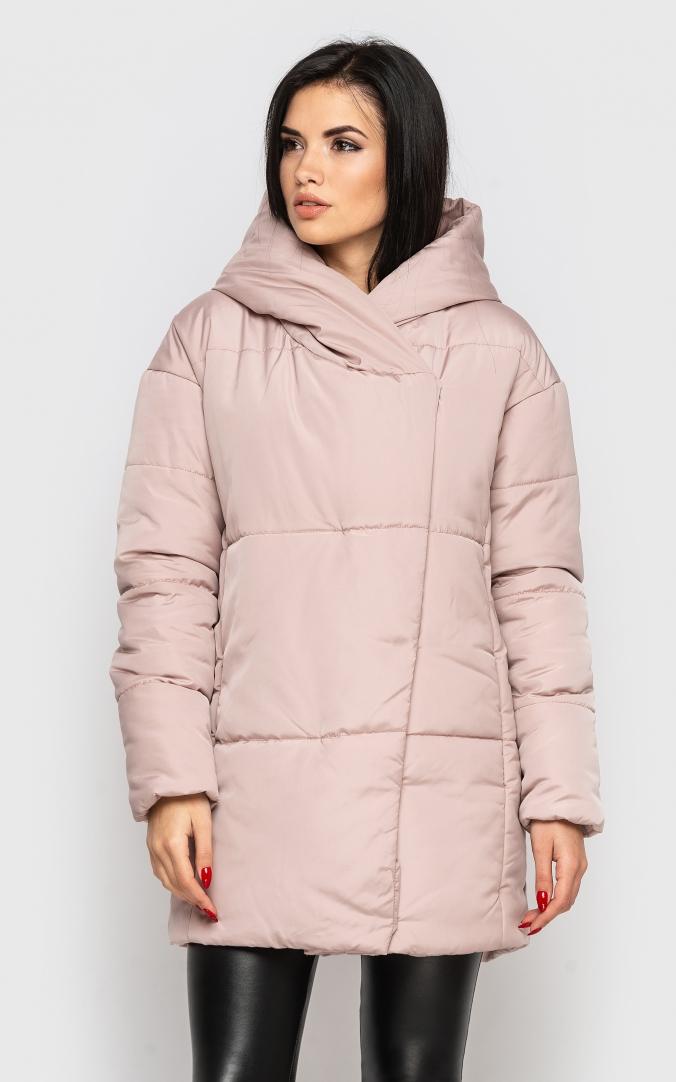 Удлиненная куртка (пудра)
