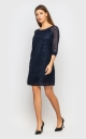 Elegant evening dress (dark blue)