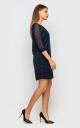 Elegant evening dress (dark blue)