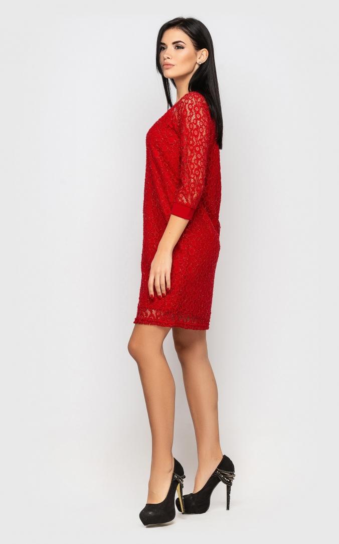 Elegant evening dress (red)