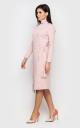 Теплое платье на запах (розовое)