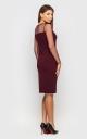 Классическое платье (бордовое)