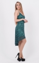 Asymmetrical gown dress (green)