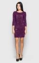 Нарядное платье-мини (фиолетовое)