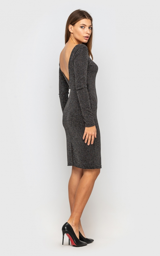 Dress with stones (gray)