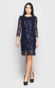 Нарядное платье (темно-синее)