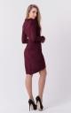 Stylish suede dress (burgundy)