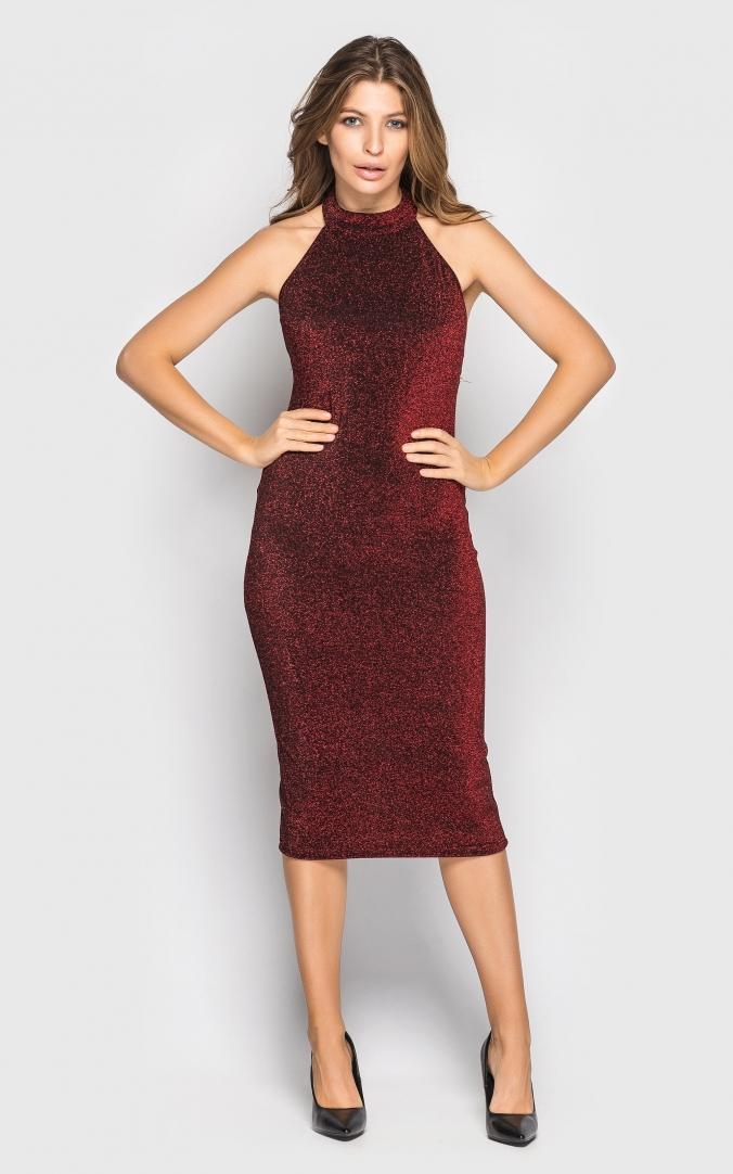 Платье нарядное (красное)