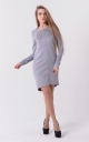 Stylish suede dress (gray)
