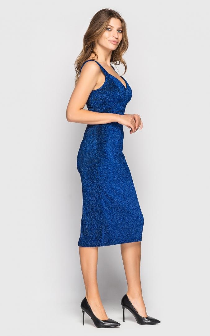 Платье миди (синее)